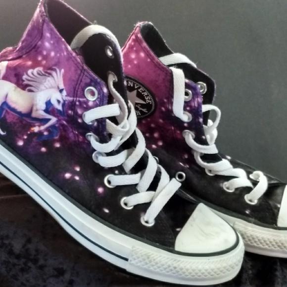 2d98aac934cf9 Converse Shoes - Converse High top satin unicorn
